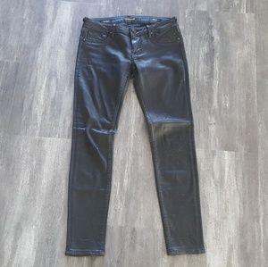 Black Matte Vigoss Skinny Denim Pant